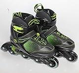 QMBasic Kinder Sports Inliner | Inline Skates 5in1 Black-Style Softboot 5-Fach längen- und weitenverstellbar Größe 29-33 09363