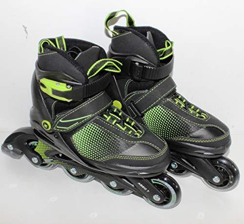 QM Basic - Gelegenheit | Kinder Sports Inliner | Inline Skates 5in1 Black-Style Softboot 5-Fach längen- und weitenverstellbar Größe 29-33 9363