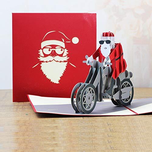 Farbdruck Weihnachtsbaum Stereo Grußkarte Kreative Weihnachten Karte Segen Thanksgiving Geburtstagskarte Für Alle Gelegenheiten Motorrad Weihnachtsmann Grubkarten,Grubkarte Geburt,Grubkarten Blumen