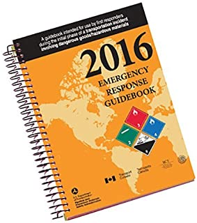 """Labelmaster ERG0023 White Paper 2016 Emergency Response Guidebook, 0.300"""" Height, 5.5"""" Width, Spiral Bound Full Size"""