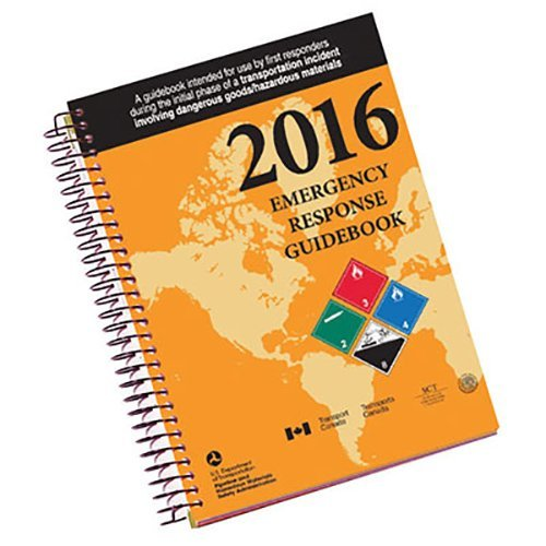Labelmaster ERG0023 White Paper 2016 Emergency Response Guidebook, 0.300' Height, 5.5' Width, Spiral Bound Full Size