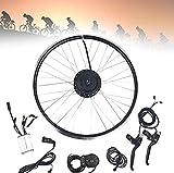 CHEIRS 36V 500W 24'26' Kits de conversión de Bicicleta eléctrica ebike de Rueda Delantera con Pantalla LCD, Kit de conversión de Bicicleta eléctrica,24INCH