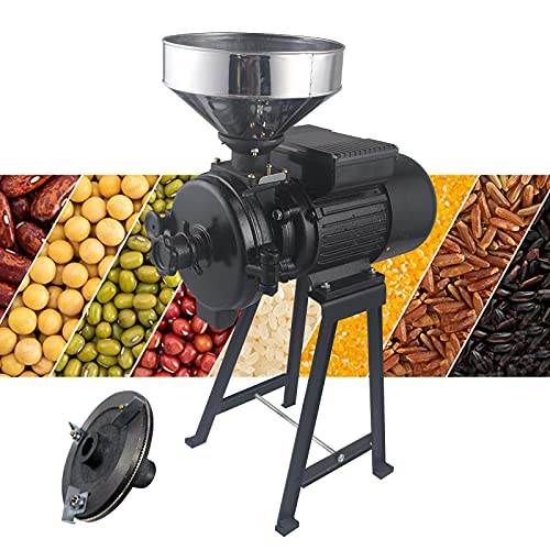 Electric Food Grinder 110V Dry Grain Wheat Grinder Milling and Grinding Machine Commercial Corn Grain Coffee Wheat Feed Machine With Funnel (Dry Grinder) -  ThousandH