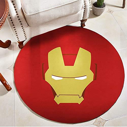 Meinianda Carpet children home decoration red iron man yellow anime cartoon Avengers boy bedroom decoration carpet 80cm