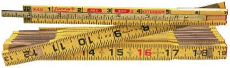 """Crescent Lufkin 5/8"""" x 8' Red End Wood Rule with 6"""" Slide Rule Extension - X48N"""