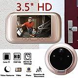 Dyna-Living - Interfono inalámbrico con videoportero inalámbrico con cámara, videoportero y vigilancia inalámbrica
