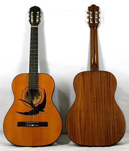 musikalia clásico guitarra Mod. Snorkel con cola de hecho a mano y marquetería en suelo, de resonancia de Luthier–Vintage de entre 1970y 1990