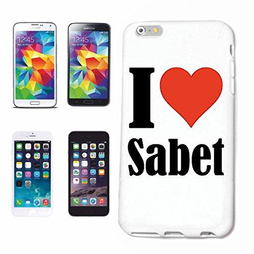 Bandenmarkt telefoonhoes compatibel met Samsung Galaxy S7 Edge I Love Sabet hardcase beschermhoes mobiele telefoon cover smart cover