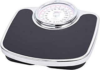 Bathroom Mechanical Scales - Health Weight Scales, 155MM Large dial, Analog pounds and kilograms, no Buttons or Batteries,...