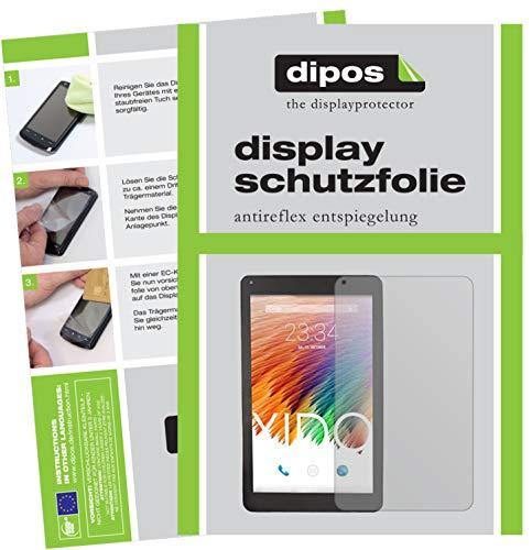 dipos I 2X Schutzfolie matt kompatibel mit XIDO Tablet X110 Folie Bildschirmschutzfolie