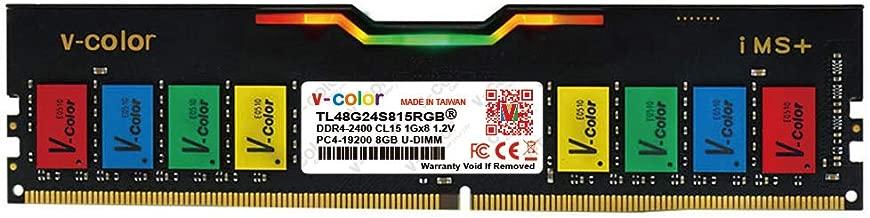 V-Color Skywalker RGB 8GB (1 x 8GB) DDR4 Hynix IC 288-Pin DRAM 2400MHz (PC4-19200) CL15 1.2V Desktop Memory Model (TL48G24S815RGB)