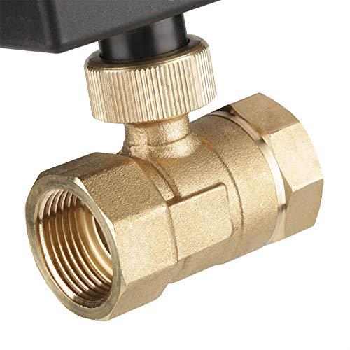 Válvula de bola motorizada de 2 vías, G3 / 4'DN20 Válvula de bola de latón de 2 vías AC 220V, para sistemas de fontanería Aire acondicionado