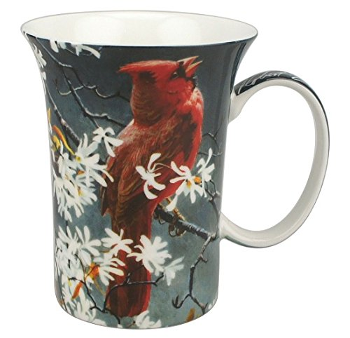 McIntosh Robert Bateman Spring Cardinal Fine Bone China (11 oz) Crest Mug in Matching Gift Box