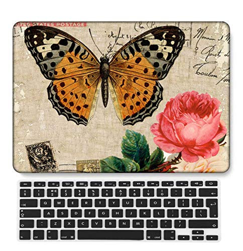 GangdaoCase Plastic Ultra Slim Light Hard Shell Case Cut Out Design Compatible New MacBook Pro 15 inch with Touch Bar/Touch ID with UK Keyboard Cover A1707/A1990 (Animal A 197)