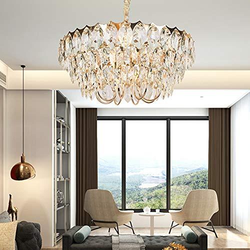 Modernes Esszimmer Wohnzimmer Luxus Goldene Kronleuchter Villa Schlafzimmer Hotel Kristallglas Deckenlampe 16 Lichtquelle 60x60x30cm Wohnzimmerlampe Esszimmerlampe Besprechungslicht Kronleuchter Kronl