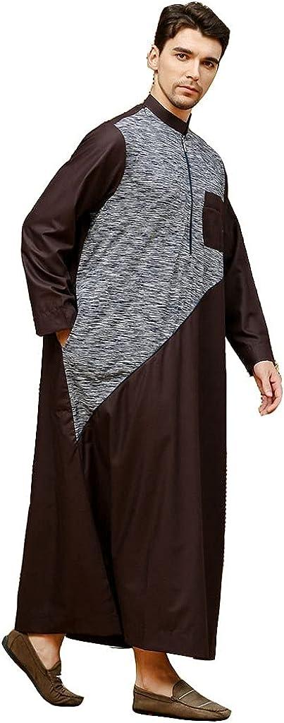 Muslim Dubai Robes Long Sleeve Men's Thobe Middle East Saudi Arab Kaftan Islamic Abaya Dress