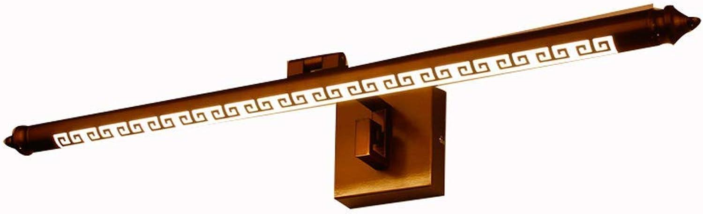 Ogsiwr Spiegel Scheinwerfer LED, feuchtigkeitsBestendige, rostfreie Badezimmerspiegelschrankleuchte (Farbe  weies Licht-90cm) (Farbe   Warm Light-50cm, Gre   -)