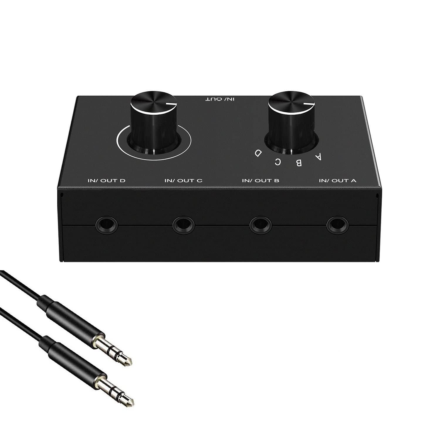 Audio Switcher 3.5mm 4 Port Splitter Ou In Limited time for free shipping Out Box Dealing full price reduction 1