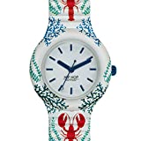 Orologio HIP HOP donna UNDER THE WATER quadrante bianco e cinturino in silicone bianco lobster, movimento SOLO TEMPO - 3H QUARZO