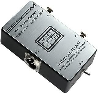 Sescom SES-XLR-AB Balanced Audio Pro Grade XLR A/B Passive Switch, 2 Female XLR to 1 Male XLR