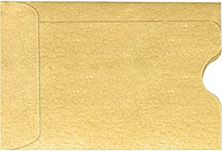 Credit Card Sleeve (2 3/8 x 3 1/2) - Gold Metallic (50 Qty.) | Perfect for The Holidays, Gift Cards, Credit Cards, Debit Cards, ID Cards and More! | 1801-07-50