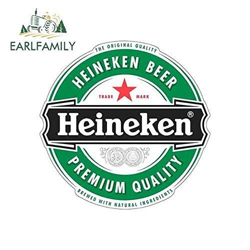 DSNGZ 13 cm x 12,8 cm für Heineken Bier Farbe lustige Autoaufkleber Vinyl wasserdicht Okklusion Scratch Stoßstange Camper JDM Aufkleber