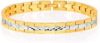 Sukkhi Delightly Gold and Rhodium Plated Bracelet for Men (26022BCCHV700-AMZ)