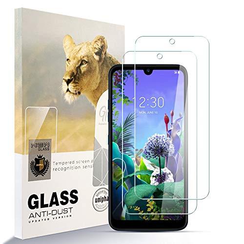 Asoway Protector de Pantalla para LG Q60 [2 Pcs], 9H Dureza Película de Vidrio Templado HD Antihuellas sin Burbujas Fácil de Instalar, Protector de Vidrio paraLG Q60