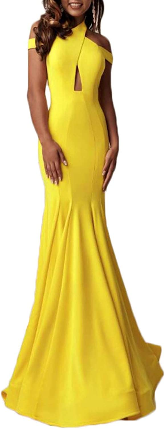 Alilith.Z Sexy Mermaid Prom Dresses Open Back Long Formal Evening Dresses Party Gowns for Women 2019