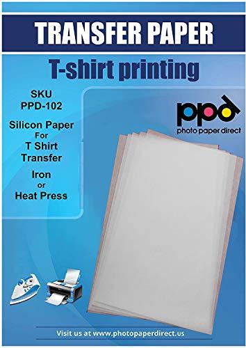 PPD A4 10 Fogli Di Carta In Silicone Per Trasferibili Termoadesivi - Uso Con Ferro Da Stiro O Pressa A Caldo - PPD-102-10
