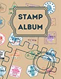 Stamp Album: Stamp album for collectors, kids and adults, My Stamp Collection, Stamp Collection Catalog Journal, Philately Stamp Collectors Log Book, large Vintage stamp album stock-book.