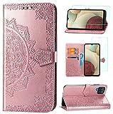 Yohii Funda Samsung Galaxy A12/M12 + Cristal Templado, Libro Caso Piel PU...