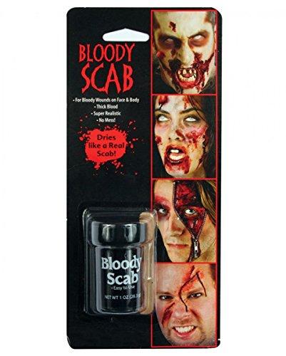 Horror-Shop Ekliges Krustenblut als dunkelrote Blutpaste für Halloween Spezial Make-up Effekte