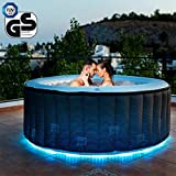 Miweba MSpa aufblasbarer Whirlpool Starry D-ST04 Outdoor – inkl. LED – für 4 Personen - 118...
