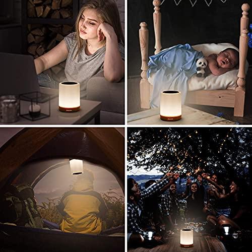 Auxmir Lámparas de mesa y mesilla de noche