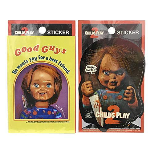 『チャイルド・プレイ2』 ステッカー全2種セット CHUCKY チャッキー グッズ ロッキンジェリービーン
