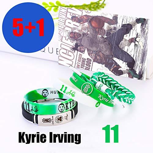 ZZH NBA Boston Celtics/Brooklyn Netze Motivierende Silikon Armbänder Set, Kyrie Irving, Sport Armband Unisex,A