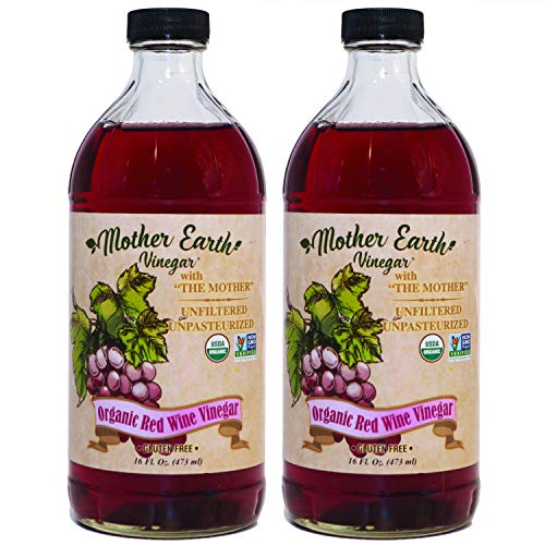 Mother Earth, Organic Red Wine Vinegar with The Mother, Fermented...