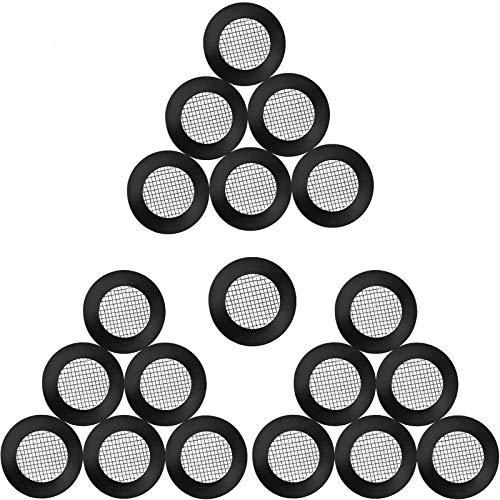 20 Piezas Junta de anillo en O Junta de manguera Filtro Cabeza de ducha neta Junta de acero inoxidable Arandela de goma con malla 40 para cabezas de manguera de ducha de 1/2 pulgada