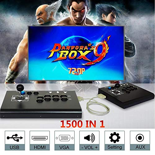 Seasaleshop Pandoras Box 9 Arcade-spelconsole -Videospelconsole Street Fighter Machine 1500 klassieke games in 1 Pandoras Box Arcade