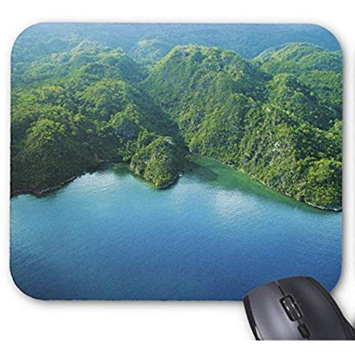 Mousepad groene berg met Lake Print muismat