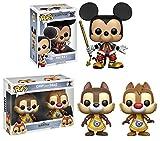 Funko POP! Kingdom Hearts: Mickey + Chip And Dale - Disney Vinyl Figure Set NEW...