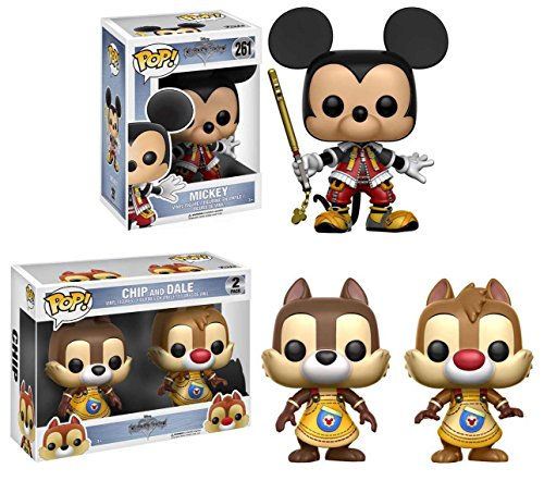 Funko POP! Kingdom Hearts: Mickey + Chip And Dale - Disney Vinyl Figure Set NEW