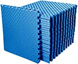 BalanceFrom 1' Extra Thick Puzzle Exercise Mat with EVA Foam Interlocking Tiles for MMA,...