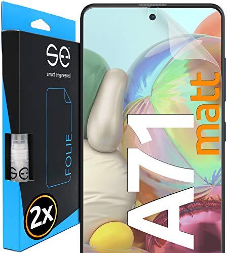 [2 Stück] Entspiegelte 3D Schutzfolien kompatibel mit Samsung Galaxy A71, hüllenfre&liche Matte Bildschirmschutz-Folie, Schutz vor Dreck & Kratzern, kein Schutzglas - smart Engineered