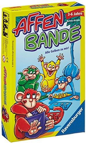 Ravensburger 23114 - Affenbande , Mitbringspiel für 2-4 Spieler, Kinderspiel ab 3-6 Jahren, kompaktes Format, Reisespiel