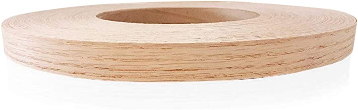 "Edge Supply Red Oak 3/4"" X 250' Roll Preglued, Wood Veneer Edge Banding, Flexible Wood Tape, Easy Application Iron On with..."