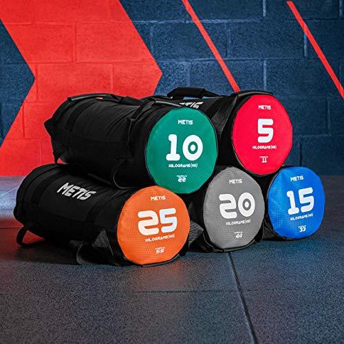 METIS Sacos Búlgaros – 5kg to 25kg | Sacos Lastrados de Fitness para Ganar Musculo, Equilibrio y Fuerza – Entrena en Casa y en el Gimnasio (15kg)