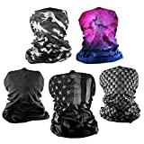 S A - UV Face Shields 5 Pack - Multipurpose Neck Gaiter, Balaclava, Elastic Face Mask for Men and Women (Rider)