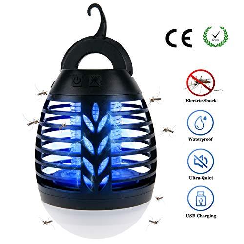 BACKTURE Camping Laterne, 2-in-1 Bug Zapper Insektenvernichter LED Moskito Killer wasserdicht USB wiederaufladbare für Indoor & Outdoor Camping, Reisen, Wandern